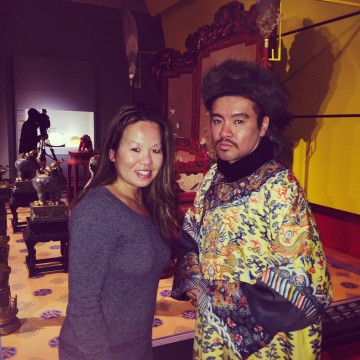 Just hanging out with a Chinese Emperor at the Royal Ontario Museum's Forbidden City Exhibition.