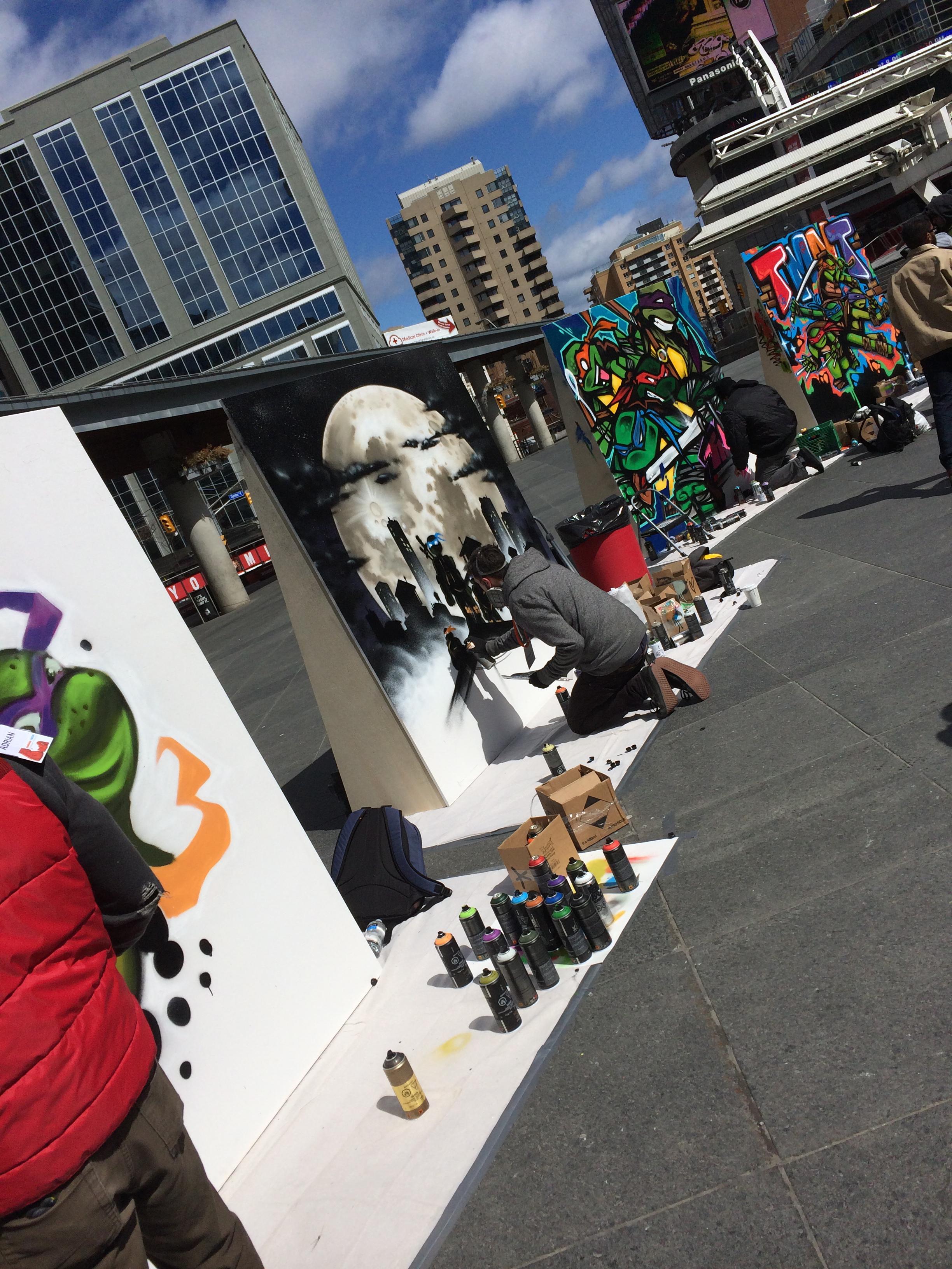 Street Artists Bring Out Their Inner Ninja Turtles