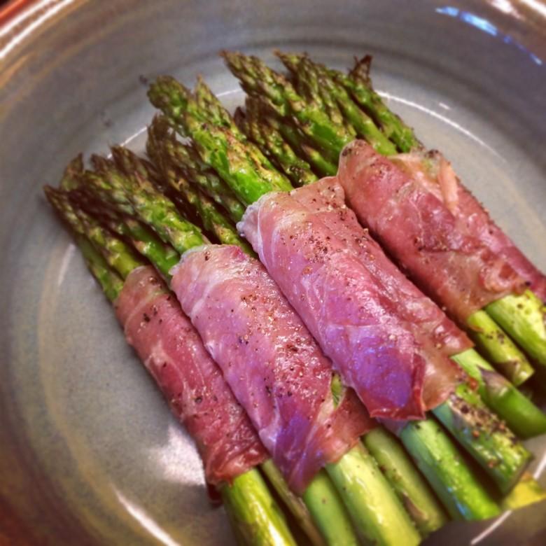 Asparagus & Proscuitto Bundles