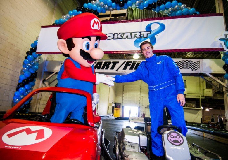 Jeff Kingsley at the launch event for Mario Kart 8