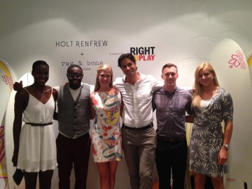 Canadian Athletes supporting Right To Play. Photo credit: Holt Renfrew