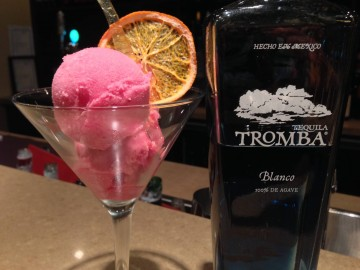 Prickly Pear Sorbet courtesy of Tequila Tromba