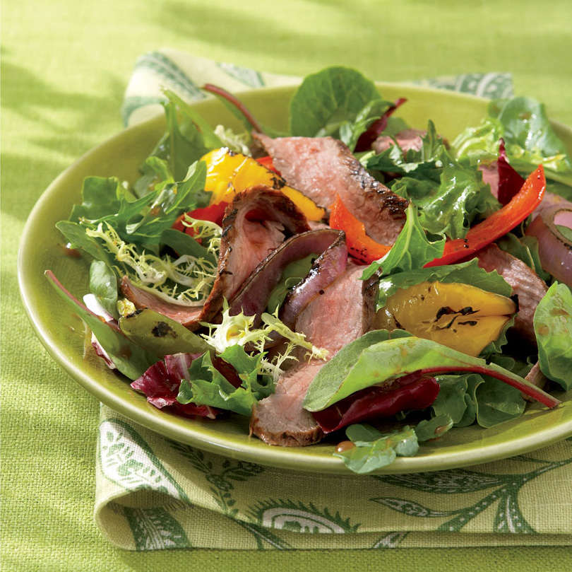 Jerk Beef Salad With Grilled Peppers