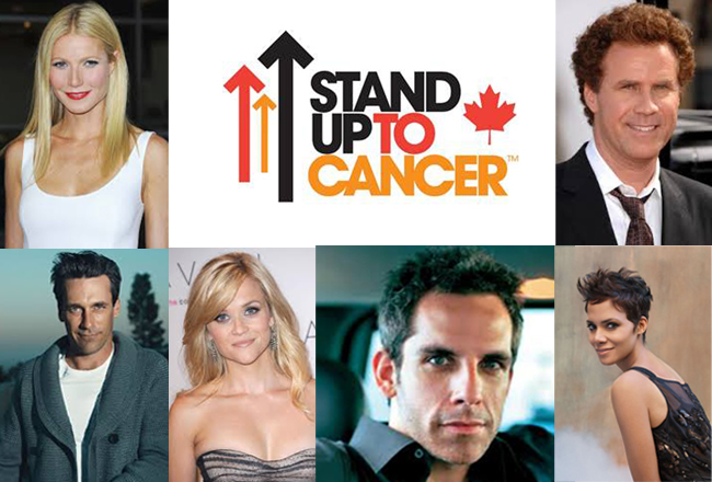 "Celebrities ""Stand Up To Cancer"" And Canada Joins In!"