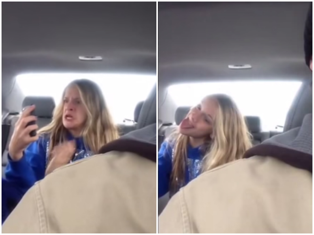 Dad Wins The Internet By Filming Daughter Taking Silly Selfies