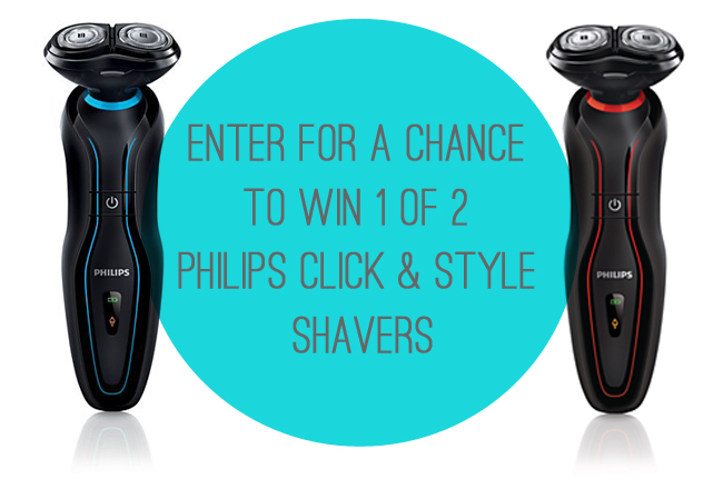 Enter For A Chance To Win 1 of 2 Philips Click & Style Shavers