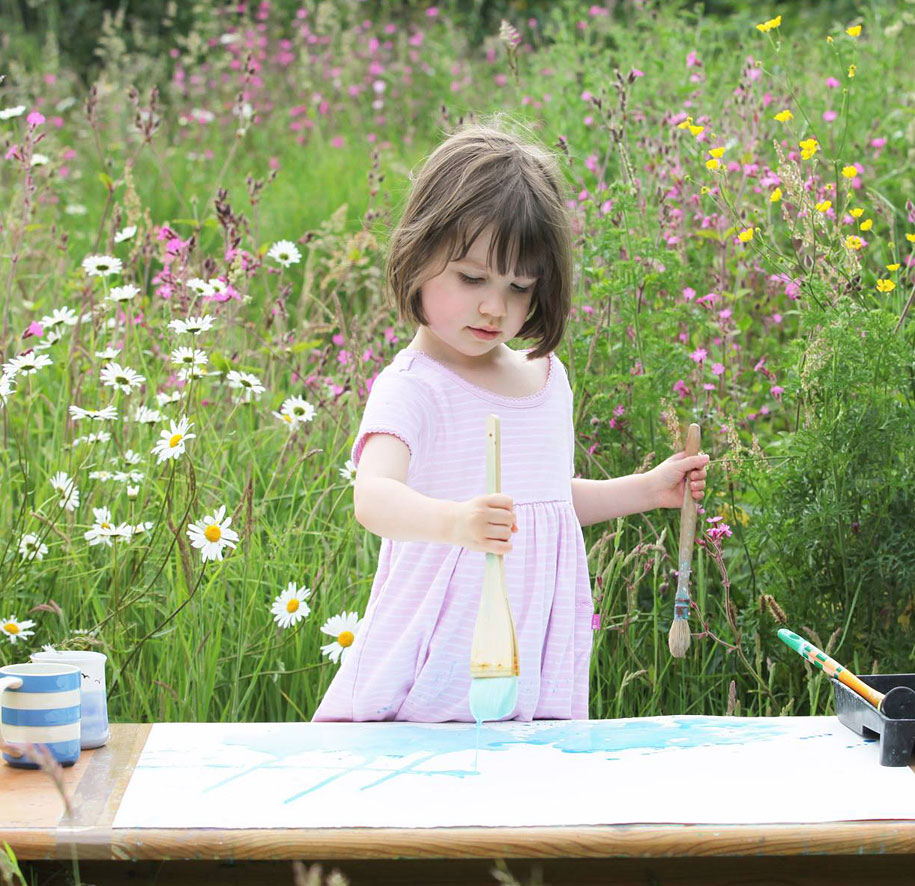 Inspiring 5-Year-Old With Autism Creates Beautiful Works Of Art