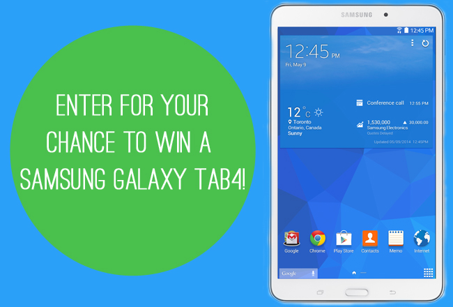 Enter For Your Chance To Win A Samsung Galaxy Tab4