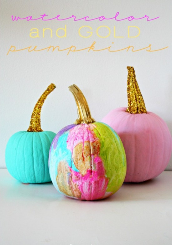 watercolor-and-gold-pumpkins1