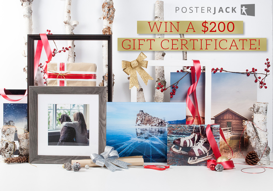 Enter To Win A $200 Gift Card From Posterjack