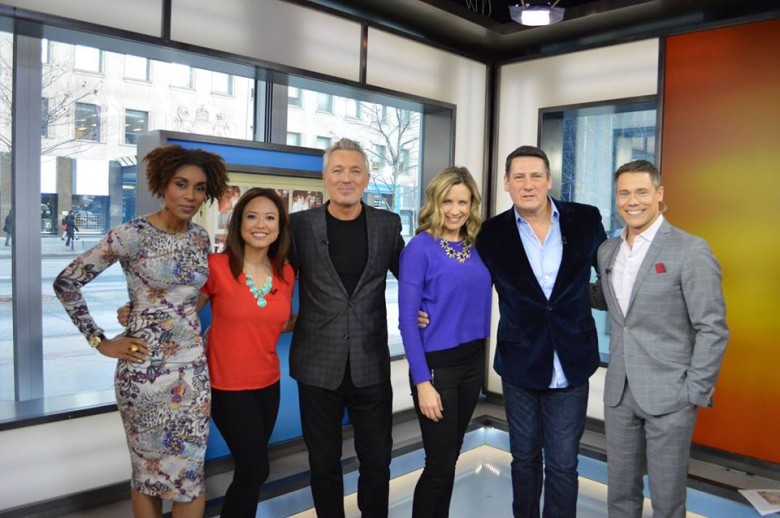 The Morning Show crew with Spandau Ballet