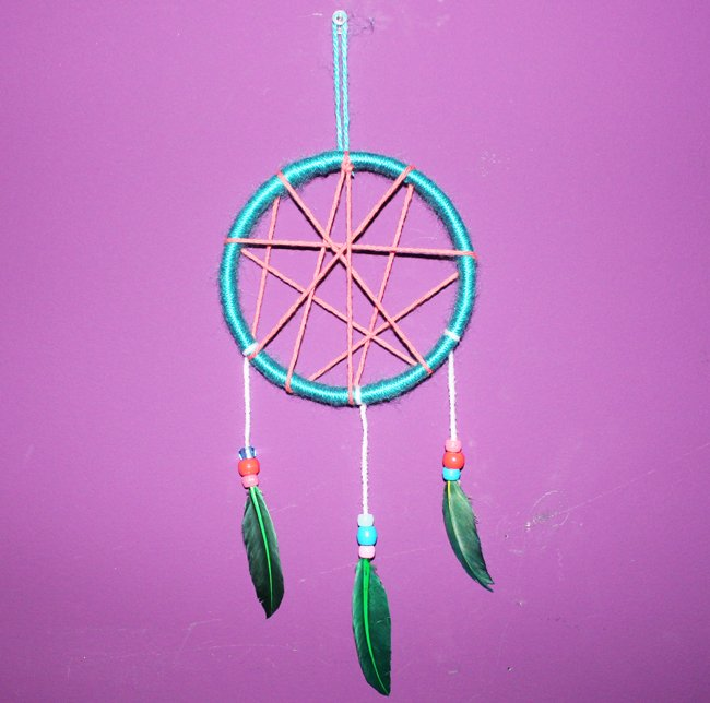 How To Draw A Simple Dream Catcher DIY KidFriendly Dream Catcher UrbanMoms 16