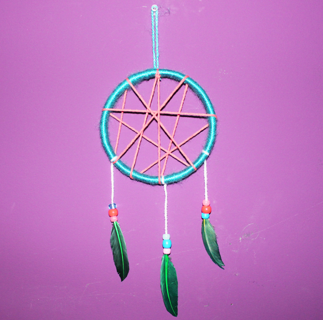 DIY KidFriendly Dream Catcher UrbanMoms Mesmerizing Making Dream Catchers With Kids