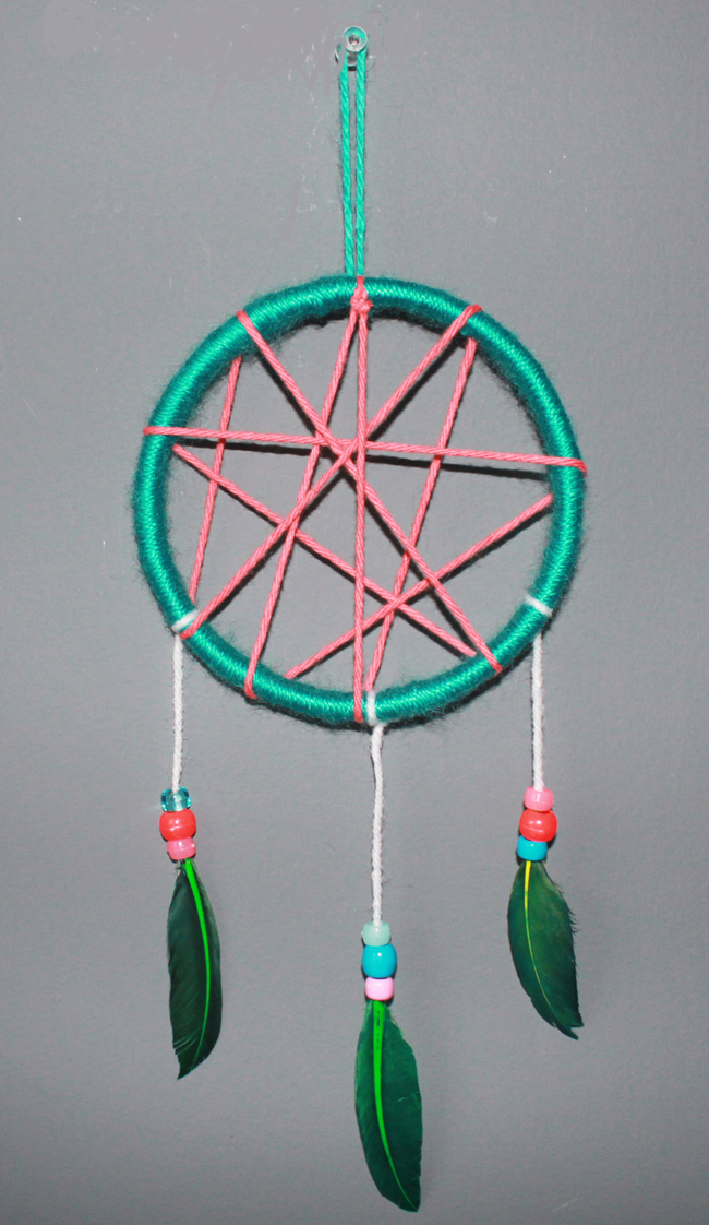 DIY KidFriendly Dream Catcher UrbanMoms Interesting Children's Dream Catcher