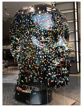 Douglas Coupland's Gumhead at Holt Renfrew Men, Toronto.