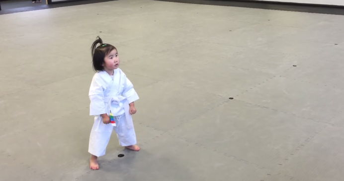3-Year-Old Taekwondo Student Will Melt Your Heart
