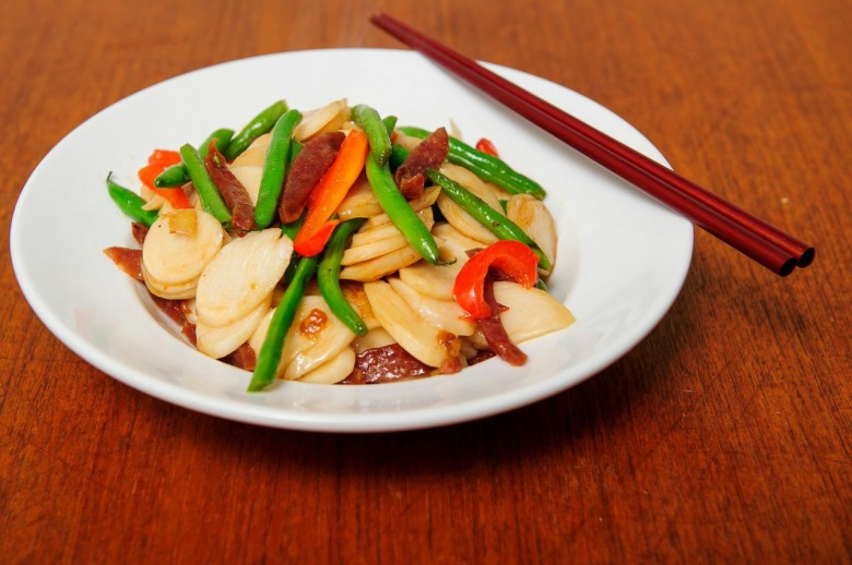 Wok Fried New Years Rice Cake Pasta