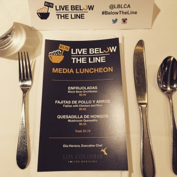 Live Below The Line Media Lunch
