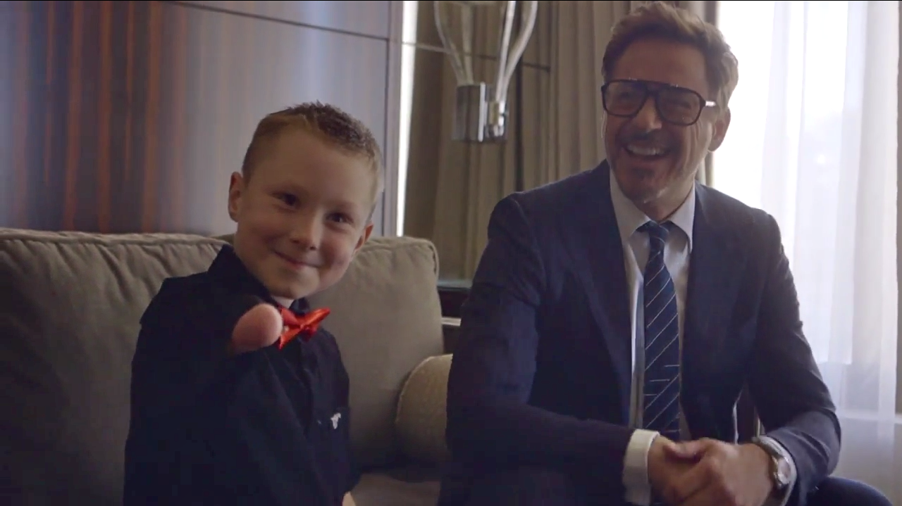 Robert Downey Jr. Presents Young Iron Man Fan With Bionic Arm