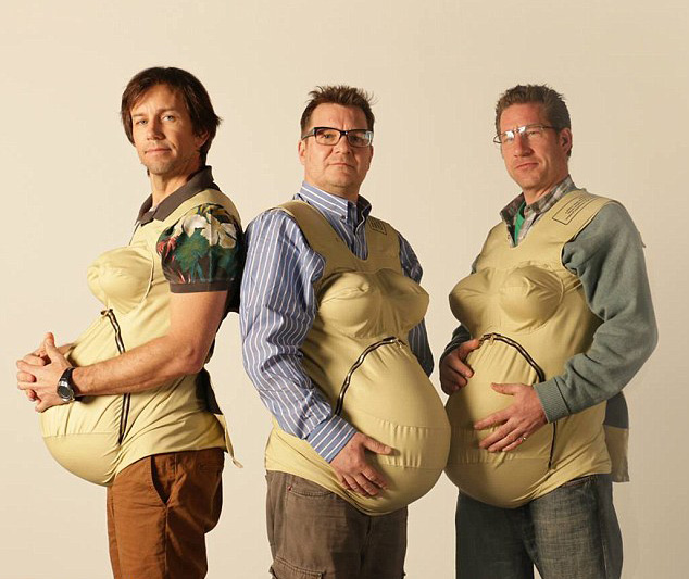 Dads Strap 33 Pounds To Themselves To Experience Pregnancy