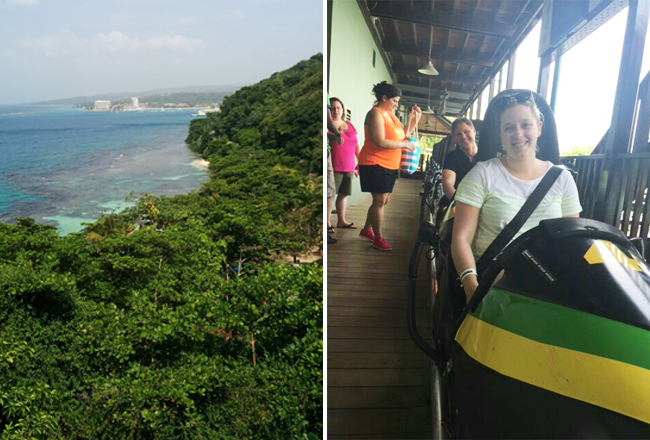 jamaica trip-mystic mountain-bobsled with view