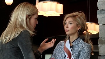 Director Elena Semikina and Jenna Talackova