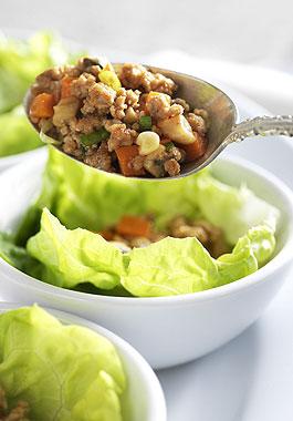 Asian Style Pork Lettuce Wraps