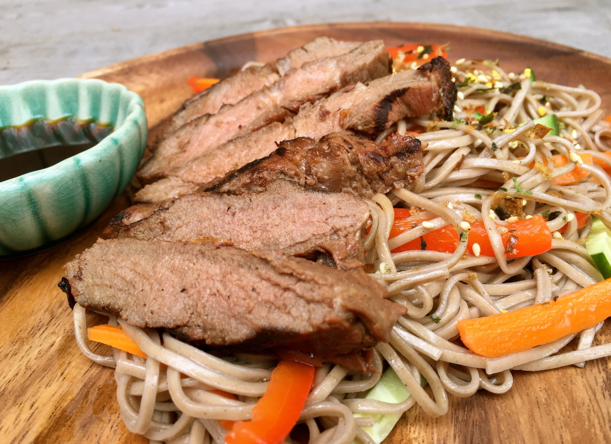 UrbanKitchen: Asian Grilled Steak Soba Noodle Salad