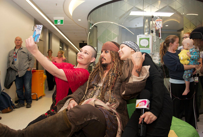 Johnny Depp Visits Children's Hospital, Gives Us Feels