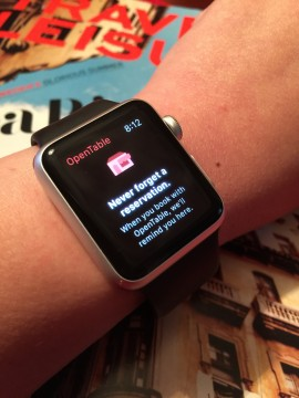OpenTable on Apple Watch