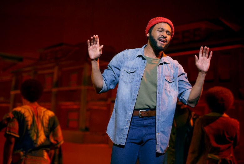 Jarran Muse as Marvin Gaye MOTOWN THE MUSICAL First National Tour (c) Joan Marcus, 2014