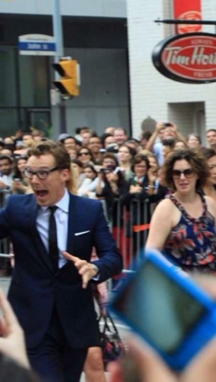 Debra with Benedict Cumberbatch at TIFF