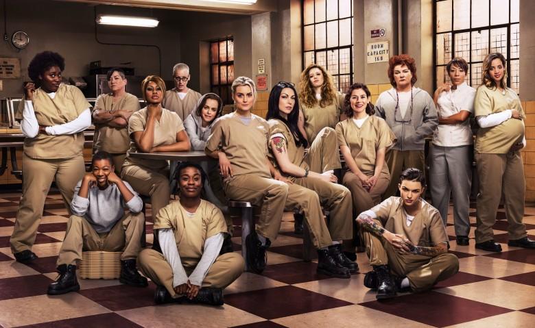 The cast of the Netflix original series Orange Is The New Black. Photo credit: Jill Greenberg/Netflix