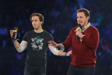 nternational activists and co-founders of WE Day, Craig and Marc Kielburger, address 20,000 students and educators at WE Day Toronto at the Air Canada Centre on October 1, 2015. Chris Young/Canadian Press