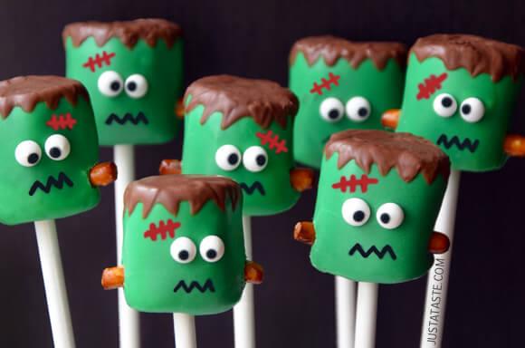 UrbanKitchen: Frankenstein Marshmallow Pops