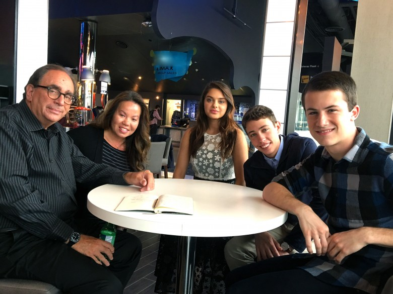 R.L. Stine and cast of Goosebumps Movie