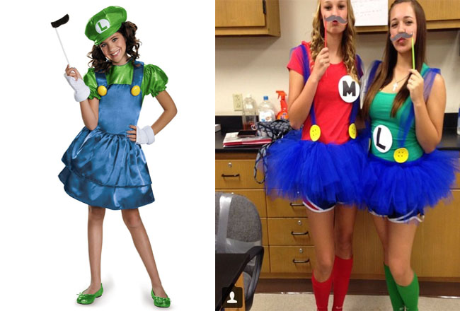 email  sc 1 st  UrbanMoms : mario and luigi girl costumes  - Germanpascual.Com