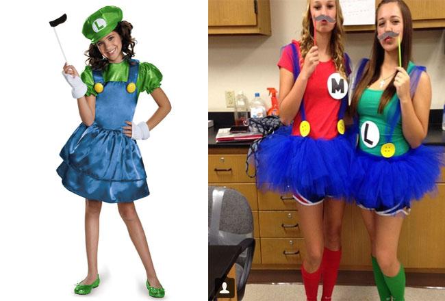 luigi - Girl Mario And Luigi Halloween Costumes