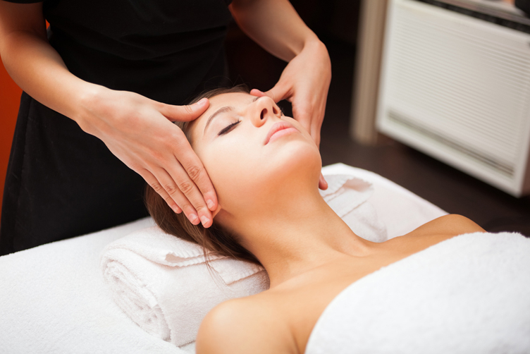facial, spa, spa treatment, having a facial, getting a massage