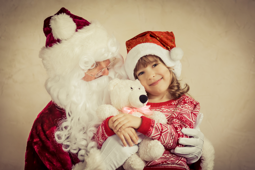 girl, santa, believing in santa,