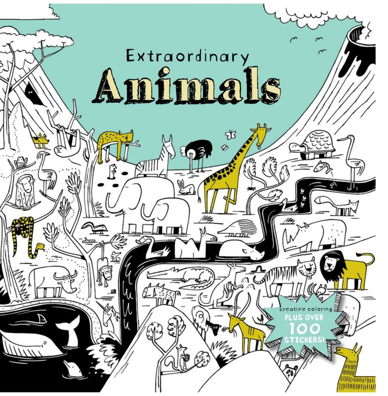 extraordinary-animals-colouring book
