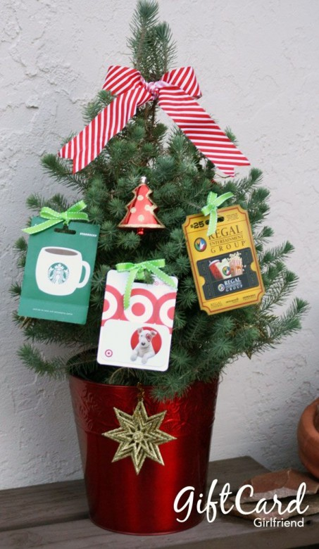 gift card christmas tree, teacher gifts, holiday teacher gifts, gifts for your teacher