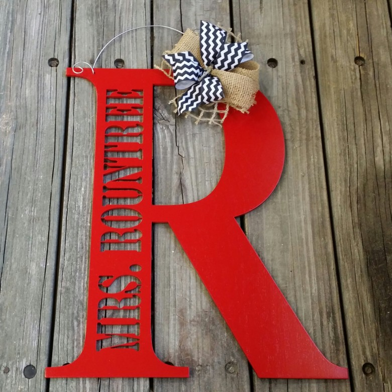 teacher gifts, holiday teacher gifts, gifts for your teacher, etsy, personalized door hanger
