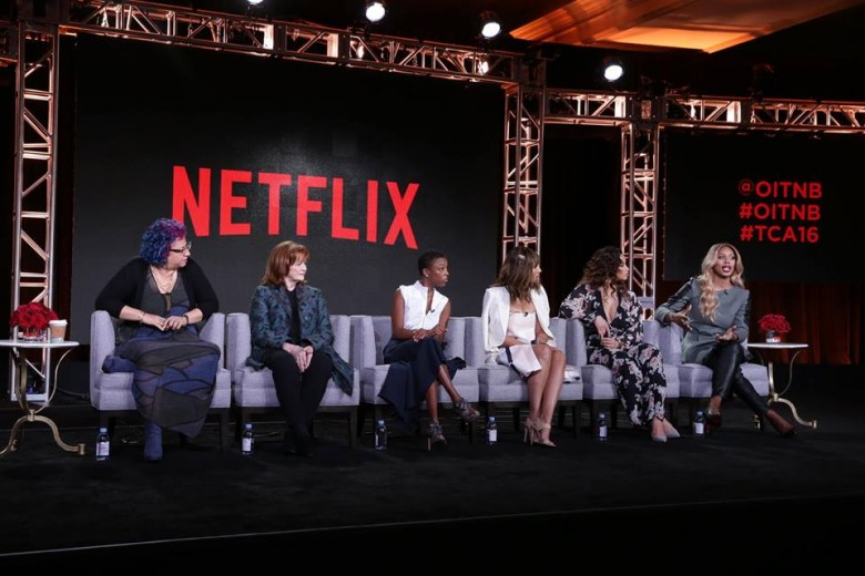 Cast of Orange is the New Black. Netflix. Photo credit: TCA