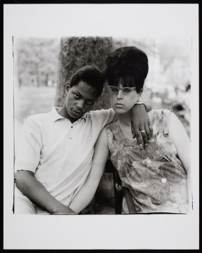 Diane Arbus A young man and his pregnant wife in Washington Square Park, N.Y.C., 1965. Gelatin silver print 50.8 x 40.6 cm (sheet) Private collection, Toronto. Copyright © The Estate of Diane Arbus.