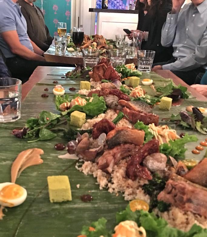 Kamayan Feast at Lamesa. Photo credit: Sonya Davidson