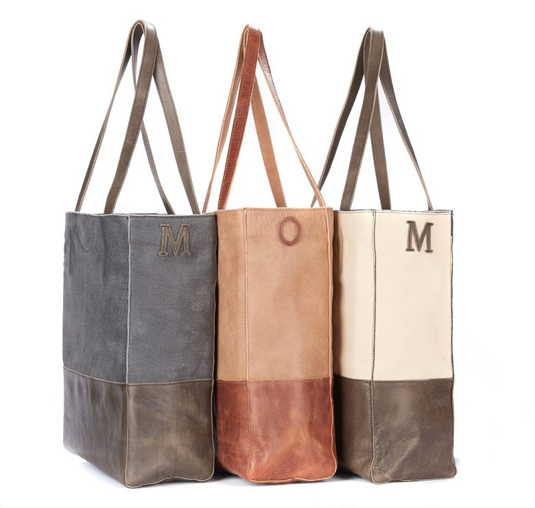 BRAVE Monogrammed Saloso 3 Tote Bags
