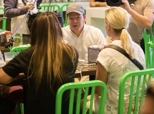 Paul Wahlberg at Wahlburgers Toronto. Photo courtesy of Wahlburgers.