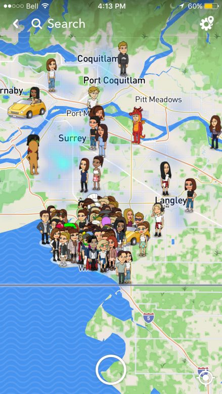 Snapchat introduces snapmap