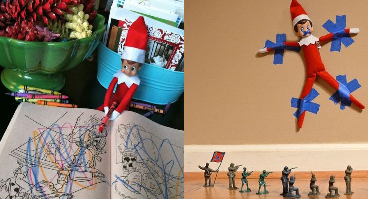 24 Sanity-Saving Elf On The Shelf Ideas